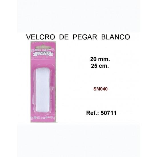 Velcro Blanco Pegar 20mmx25cm