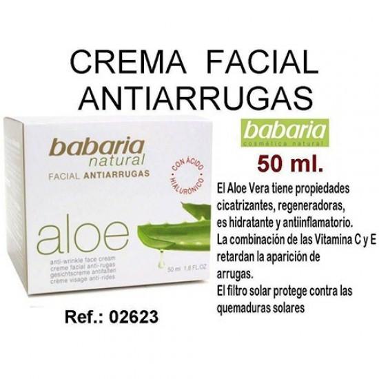 Crema Facial Antiarrugas Aloe Babaria 50ml