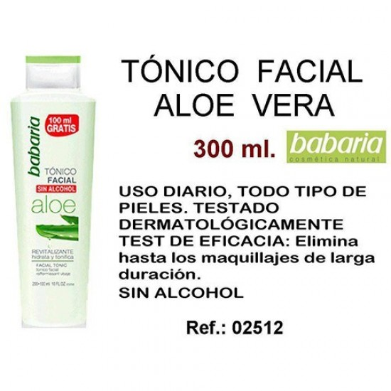 Tonico Facial Aloe Babaria 300ml