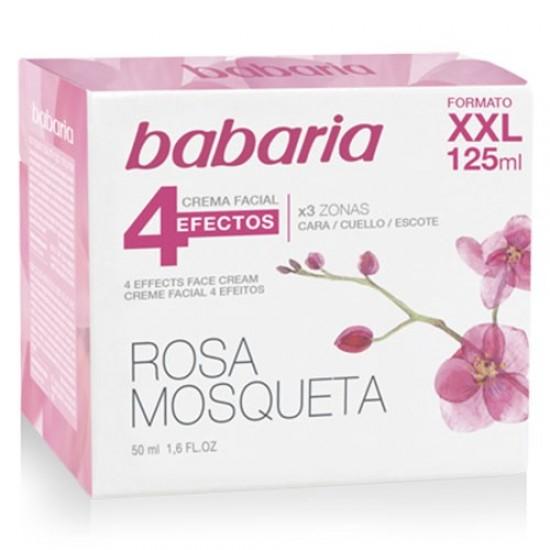 Crema Cara Rosa Mosqueta 4 Efectos Babaria 125ml