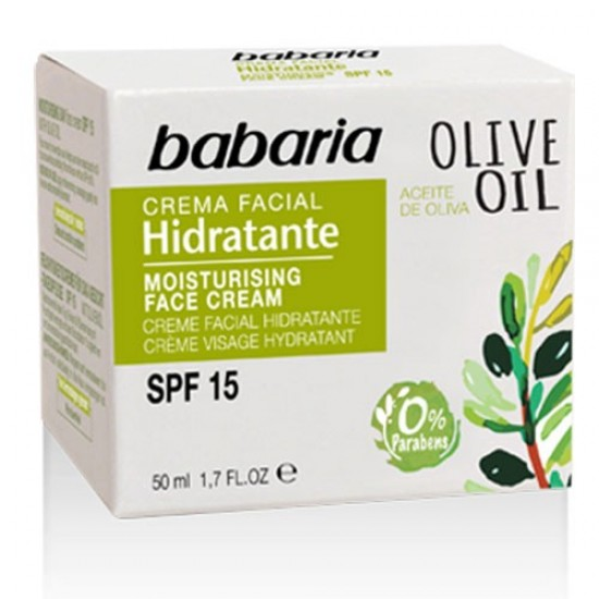 Crema Cara Hidratante Dia Aceite Oliva Babaria 50ml
