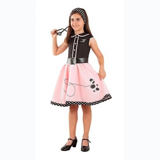 Disfraz Grease Pink Lady Infantil Ni&ntildea