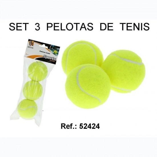 Set 3 Pelotas Tenis